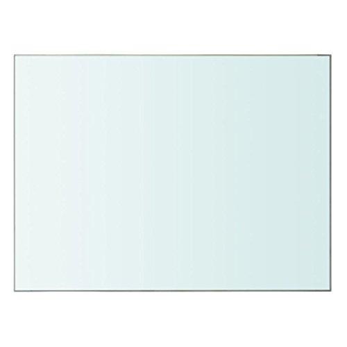 mewmewcat Regalboden Glas Transparent Glasboden Einlegeboden Glasregal Glasablage Ersatzteile 40x30cm