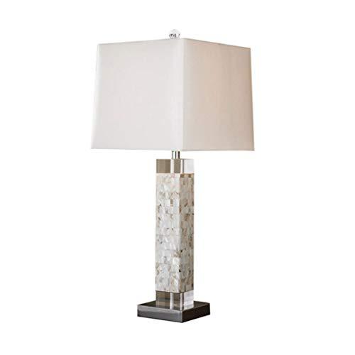 Tafellamp, vierkant, bedlamp, moderne creatieve schelp, decoratie, slaapkamer, lampenkap, bureaulamp, slaapkamer, woonkamer, bureaulamp