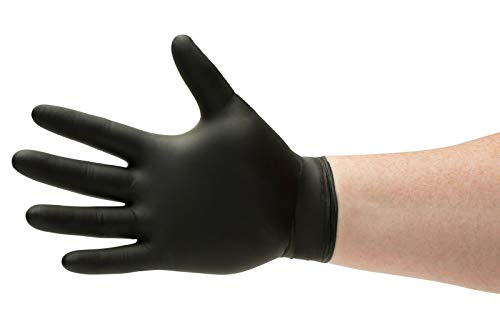 1000 Black Nitrile Disposable Gloves Powder Free Medical Exam Grade Glove 6 Mil Size: Medium