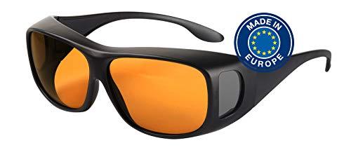 Blaulichtfilter – Überbrille – Fit-Over-Brille, Blue Blocker mit Kantenfilter 511, UV-Schutz, Blendschutz, kontraststeigernde Unisex-Lichtschutzbrille IV PROSHIELD