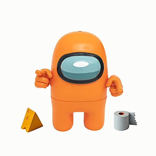 Bizak- Among Us Figura de Acción Pack de 1 en Caja Naranja (64116010), Multicolor