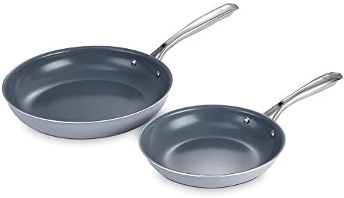 KUTIME frying pan set of 2 8 7 Inch 11 Inch frying pan nonstick Fry Pan Ceramic Coating Skillet product image