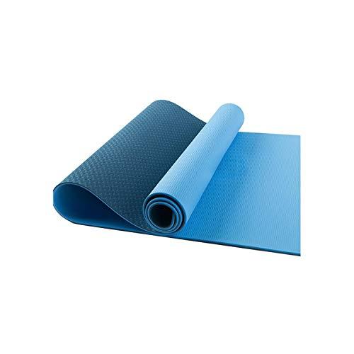 Exercice de tapis de yoga | Tapis de yoga TPE 1830 * 610 * 6 mm avec ligne de positionnement Tapis de tapis antidérapant pour tapis de gymnastique de fitness environnemental débutant-T 6-