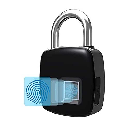 BE-STRONG Lucchetto Intelligente per Impronte Digitali, Blocco Biometrico Bluetooth Senza Chiave, USB Ricaricabile Resistente all'Acqua per Palestra Recinzione E Deposito