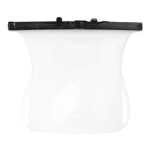 Jadpes Bolsa de Almacenamiento de Alimentos de Silicona, Bolsa de conservación Reutilizable portátil Bolsa sellada Refrigerador Carne Fruta Bolsa de Almacenamiento de Cocina Frutas Vegetales(Blanco)