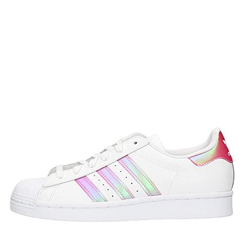 adidas Zapatillas Superstar J código FW8279, Blanco y rosa., 35.5 EU