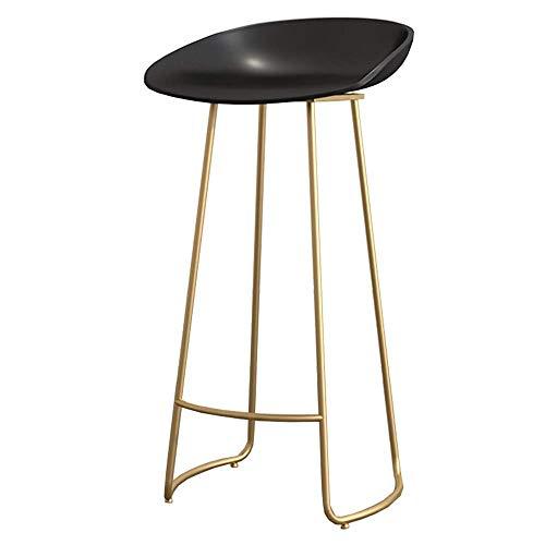 JIEER-C campingstoel barkruk bar stoel van PP stoel stoel stoel bar frame metalen lager 100 kg zithoogte 65/75 cm (kleur: goud, maat: 75 cm) 75cm Goud