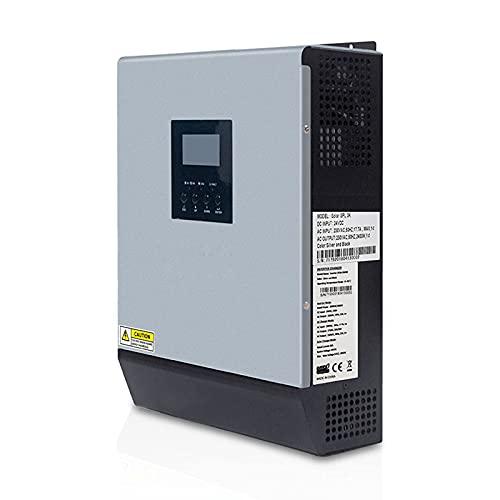 GZTYLQQ Inversor Solar híbrido de Onda sinusoidal Pura 24V 220V 110V Controlador de Carga Solar PWM 50A Incorporado y Cargador de CA para Uso doméstico