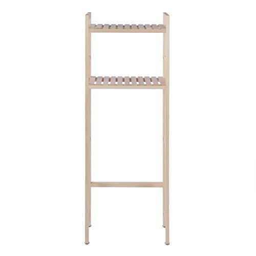 Badkamer Organizer Over Het Toilet, 2-Tier Houten Bouw Opslag Plank Rack Over Toilet Compacte Badkamer Organizer