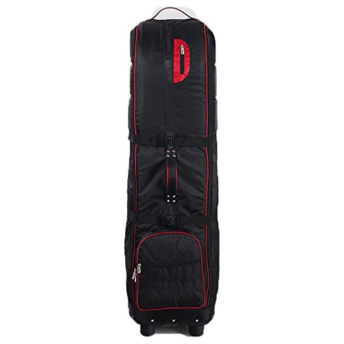 Golf Club Reistas Golf Reistas, Waterdichte Duurzame Golf Draagtas voor Mannen Vrouwen Bescherm uw apparatuur- Vliegtuigen Check Bag met Inklapbaar Rood