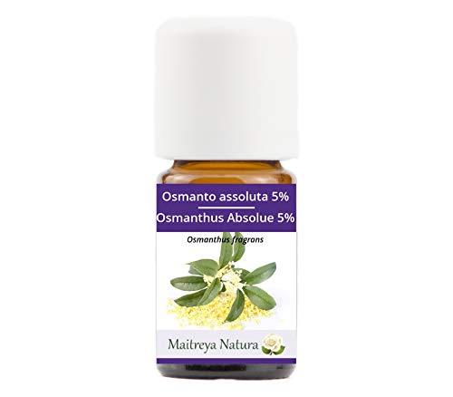Maitreya Natura Olio Essenziale OSMANTO 100% puro e naturale, 5ml - aromaterapia, diffusore, massaggio, cosmetica - qualità controllata e certificata, cruelty free, vegan