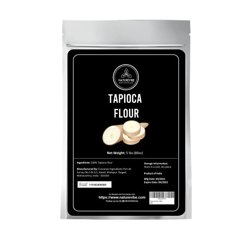 Naturevibe Botanicals Tapioca Flour, 2lbs   Used for Cooking(32ounces) [Packaging may vary]