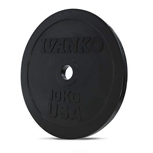 Ivanko Olympic Training Plate, 10KG, Rubber, Black (Pair)