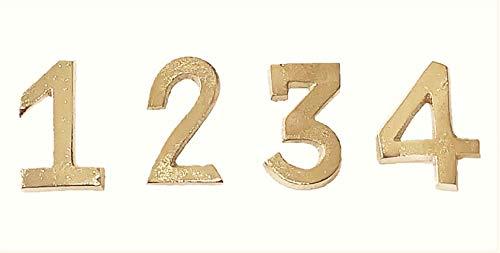 creativ home Aluminium Zahlen 1,2,3,4 Kerzen - Pin. 4cm. Für Advent. Farbe: Gold Art.: 6218616-39