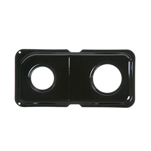 GE WB34K10009 Genuine OEM Porcelain Double Drip Pan (Black) for GE Gas Ranges