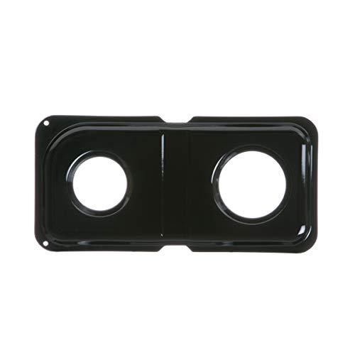 GE WB34K10009 Genuine OEM Porcelain Double Drip Pan (Black) for