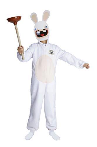 P'tit Clown- Costume Lapins Crétins déguisement, Enfants Unisexes, 44440, Blanc-Beige, Large