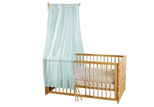 Bio Baby Betthimmel 100% Bio-Baumwolle (kbA) GOTS zertifiziert, Morgennebel, 115 x 300 cm