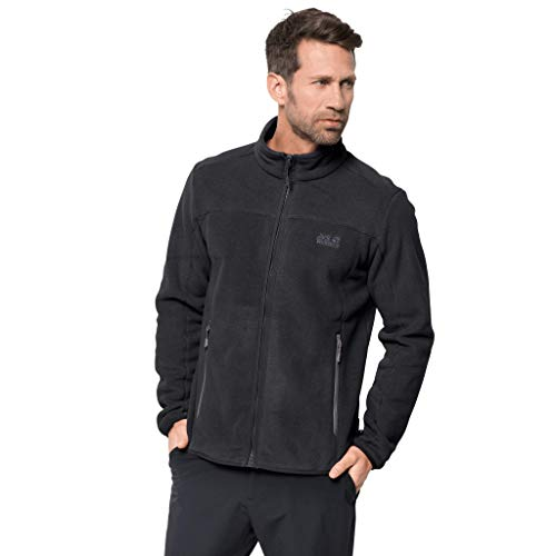 Jack Wolfskin Herren MOONSHINE ALTIS MEN Fleecejacke, black, M