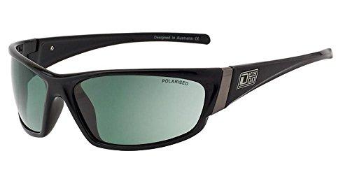DIRTY DOG polarised STOAT mens wrap Sunglasses WHITE Blue Mirror POLAR 53105