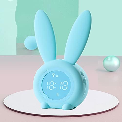 Reloj despertador digital, bonito reloj despertador electrónico, silencioso y luminoso para dormitorios y camas para niños y niñas (color verde)