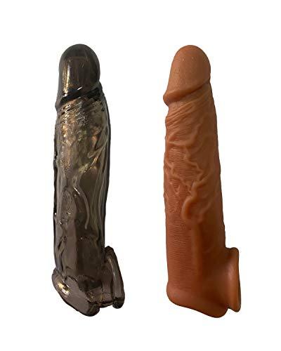 Wearable Male Rod Extension Enhancer Reusable Pennis Girth Enhancer Sleeve for Men Beginner Longer Lasting Time S87