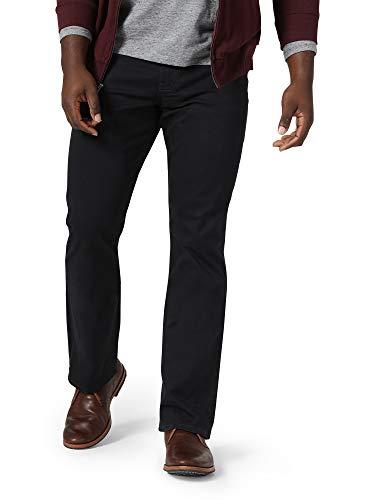 Wrangler Authentics Men's Straight Fit Twill Pant, Caviar, 36W x 32L