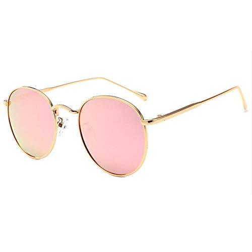 NDY Gafas Hombres Y Mujeres Gafas De Sol Polarizadas Marco De Metal Príncipe Espejo Gafas De Montura Redonda Gafas Coloridas Estilo Vintage