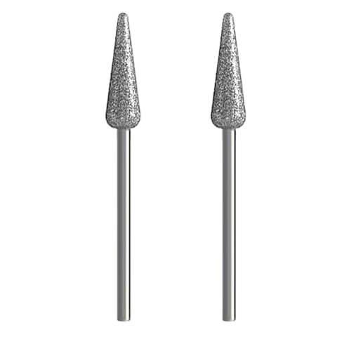2x Diamantschleifer [Ø 6 x 20 mm | mittel] Schleifstein für Dremel, Proxxon