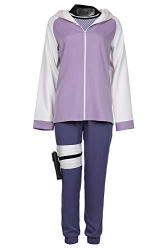 cultofmoon Hyuga Hinata Cosplay Kostüm Halloween Karneval Anzug Jacke Hosen Outfits Gr. XS , violett