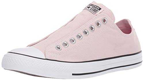 Converse Chuck Taylor All Star Seasonal Slip-On Low Top Sneaker, Barely Rose/Black/White, 8 M US