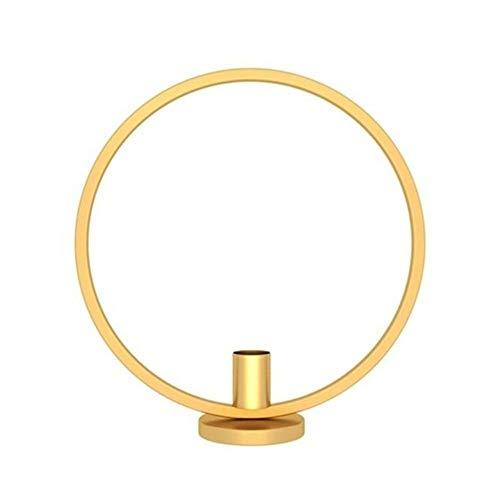 Kandelaar Voor Tafel Scandinavische Stijl 3D Cirkel Geometrische Metalen Wandkandelaar Theelichtje Kandelaar Blaker Ambachten Bruiloft Home Decor Theelicht (Kleur: Zwart)