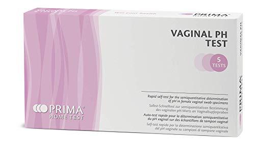 PRIMA Home Test - Vaginaler pH-Test - Teststreifen zur erkennung von Vaginalen und Bakterieninfektionen - 5 Tests