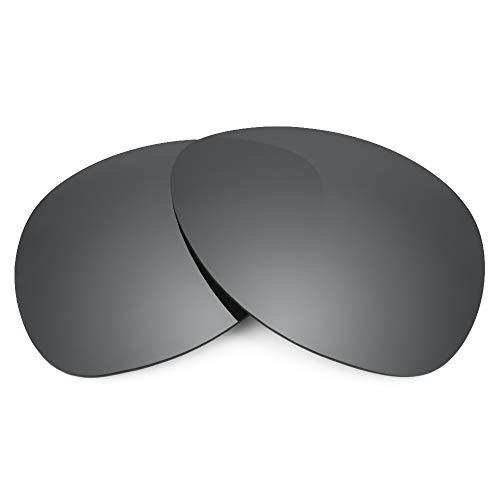 Revant Revant Ersatzgläser für Oakley Plaintiff - Kompatibel mit für Oakley Plaintiff, Polarisiert, Schwarz Chrome MirrorShield