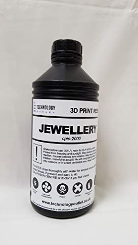 TECHNOLOGY OUTLET PREMIUM 3D PRINTER RESIN (JEWELLERY CASTABLE 1LTR)