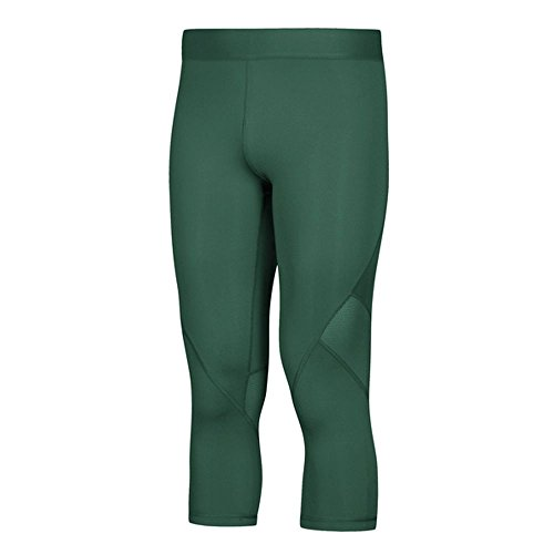 adidas AlphaSkin Compression ThreeQuarter Tight Mens Training XXL Dark Green