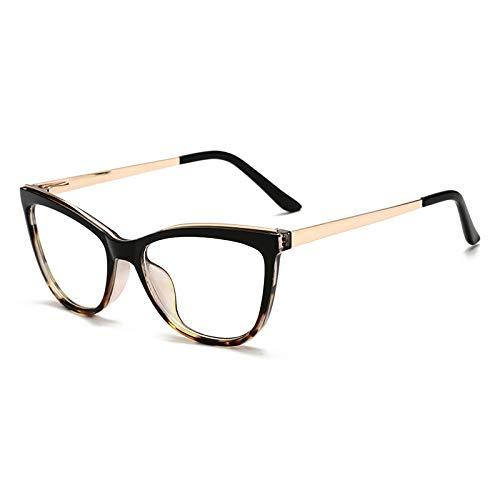 HAOMAO Cat Eye Blue Light Blocking Glasses For Women UV Protection Clear Optical Frames C5Blackleopard