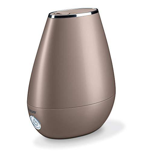 Beurer LB 37 Luftbefeuchter mit mikrofeiner Ultraschall-Zerstäubung, leiser Nachtmodus, Aromafunktion, toffee
