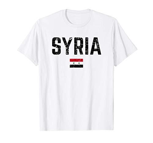 SYRIEN Flagge Syria Fahne | Herren Damen Kinder SYRIA T-Shirt