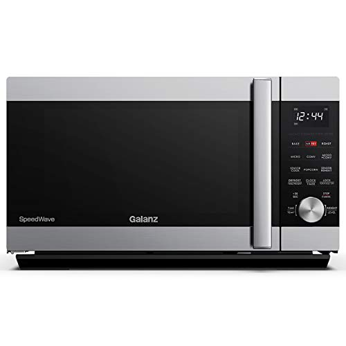 Galanz GSWWA16S1SA10 3-in-1 SpeedWave with TotalFry 360, Microwave, Air Fryer, Convection Oven with Combi-Speed Cooking, 1.6 Cu.Ft/1000W, Stainl, Ft, Stainless Steel