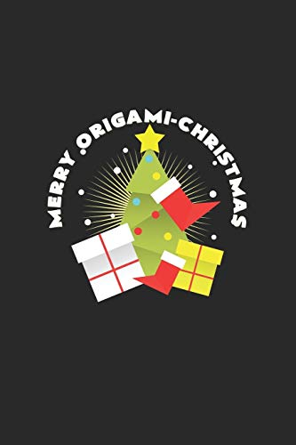 Merry origami christmas: 6x9 Origami | blank with numbers paper | notebook | notes