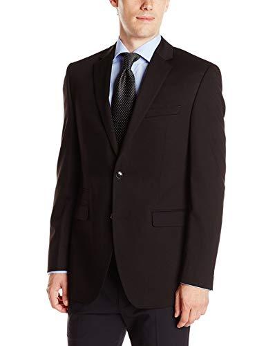 Perry Ellis Men's Slim Fit Suit Separate Blazer (Blazer, Pant, and Vest), Black, 42 Regular