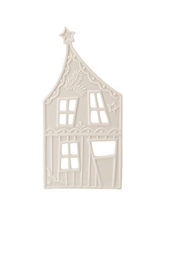 Hutschenreuther Little Christmas Town Höhe 20 cm Lichterhaus Front 1 weiß, Porzellan, 8 x 11 x 24 cm