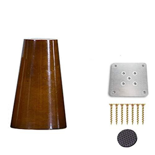 zj01123 - Patas de madera para sofá, silla, armario, mesa de té, mueble de TV, patas de madera de repuesto, 4 unidades 10 cm