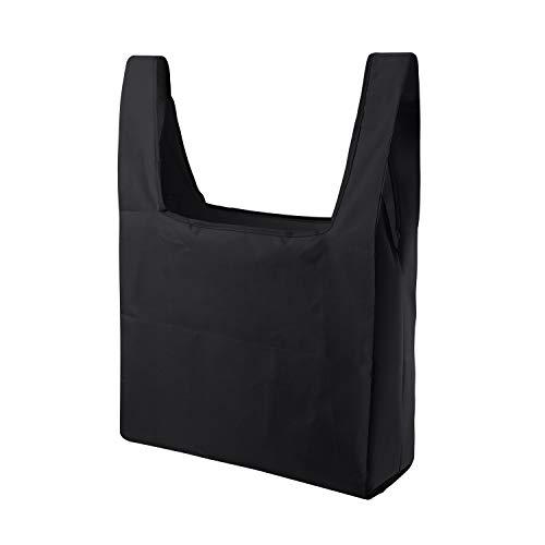 買い物袋 エコバッグ メンズ 折りたたみ バッグ 便利 レジ袋 雑貨 おしゃれ お弁当袋 ショッピングバッグ ごみぶくろ 誕生日プレゼント 男性 トートバック メンズ ホワイトデー プチギフト ブラック Black
