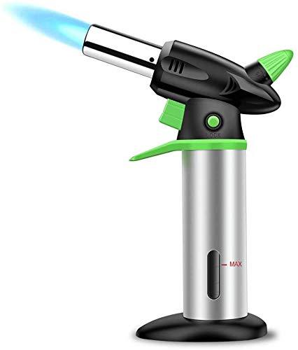 ZB ZealBoom - Quemador de gas butano, quemador de Bunsenbrenner Flammen Küchenbrenner dobles Flammen/Ideal para flambear, caramelizar, barbacoas, para postres, cocina, BBQ