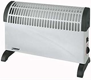 Euromac CK1500 Negro, Color blanco 1500W Radiador - Calefactor (Radiador, Piso, Negro, Color blanco, Metal, De plástico, Botones, Giratorio, 1500 W)
