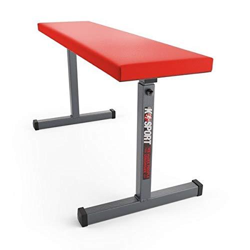 K-Sport Banco plano para levantamiento de pesas TSPORT para gimnasio DuMBBELL prensa, pecho pesado, abdominales, brazos