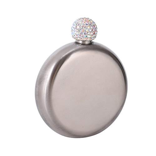 Petacas De Alcohol Cubierta de cristal de la botella de vino de acero inoxidable de 100 ml Cubierta de cristal de la botella de vino de acero inoxidable para el regalo de las señoras de la dam
