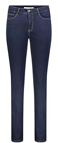 MAC JEANS Damen Angela_0380L Straight Jeans, Blau (Dark D801), W42/32L